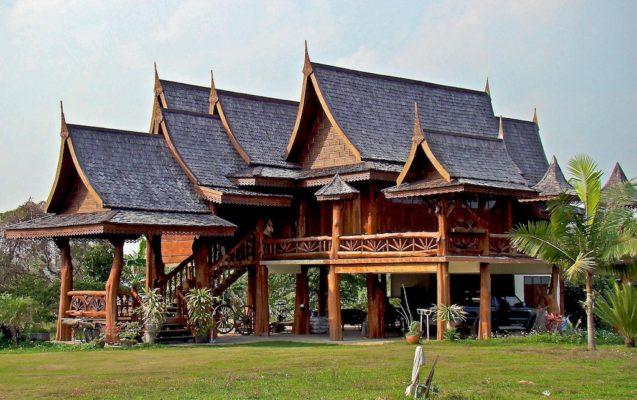 Mái nhà truyền thống trong kiến trúc Thái Lan