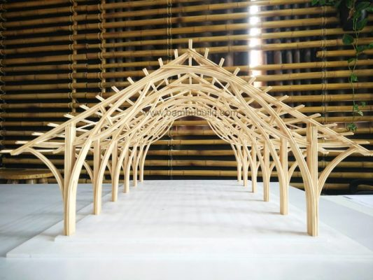 Mô hình công trình bằng tre